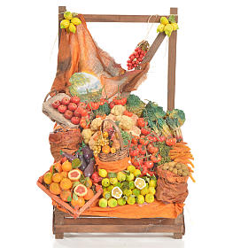 Nativity accessory, greengrocer's stall 20x22x44cm s1