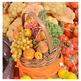 Nativity accessory, greengrocer's stall 20x22x44cm s7