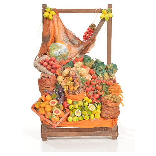Nativity accessory, greengrocer's stall 20x22x44cm 8