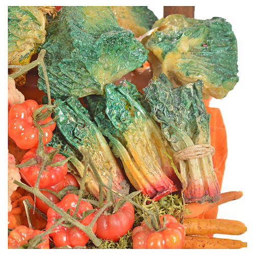 Nativity accessory, greengrocer's stall 20x22x44cm 14