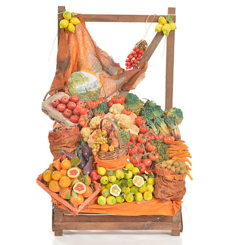 Nativity accessory, greengrocer's stall 20x22x44cm 1
