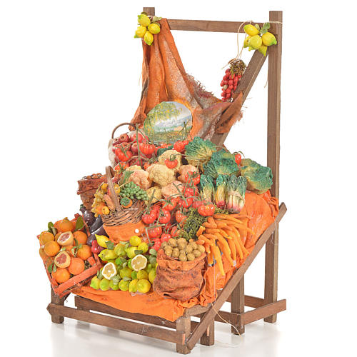 Nativity accessory, greengrocer's stall 20x22x44cm 3