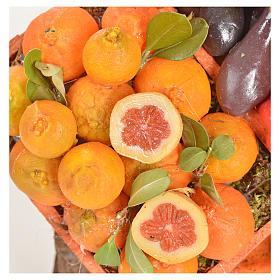 Banc du fruitier en cire en miniature 20x22x40cm s13