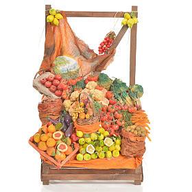 Banc du fruitier en cire en miniature 20x22x40cm s1
