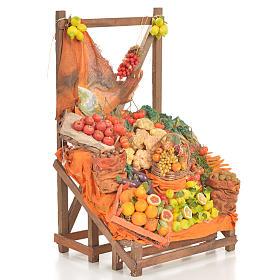 Banc du fruitier en cire en miniature 20x22x40cm s2