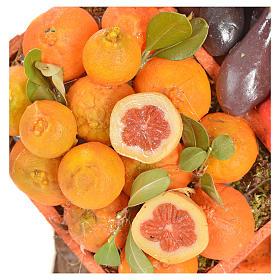 Banc du fruitier en cire en miniature 20x22x40cm s6