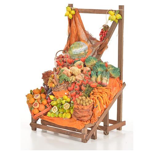 Banc du fruitier en cire en miniature 20x22x40cm 9
