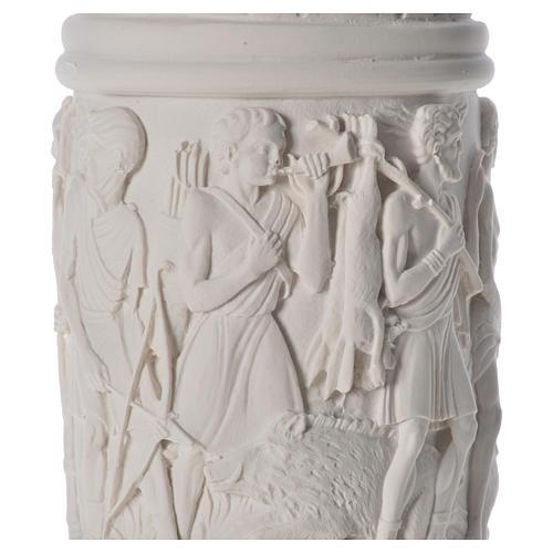 Banc du fruitier en cire en miniature 20x22x40cm 20