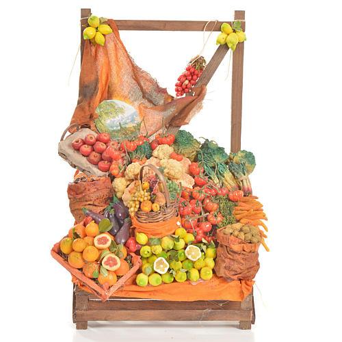 Banc du fruitier en cire en miniature 20x22x40cm 1
