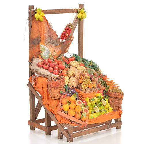 Banc du fruitier en cire en miniature 20x22x40cm 2