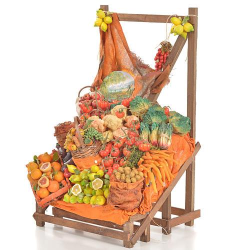 Banc du fruitier en cire en miniature 20x22x40cm 3