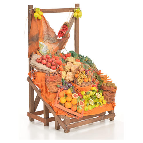 Nativity accessory, greengrocer's stall 20x22x44cm 11
