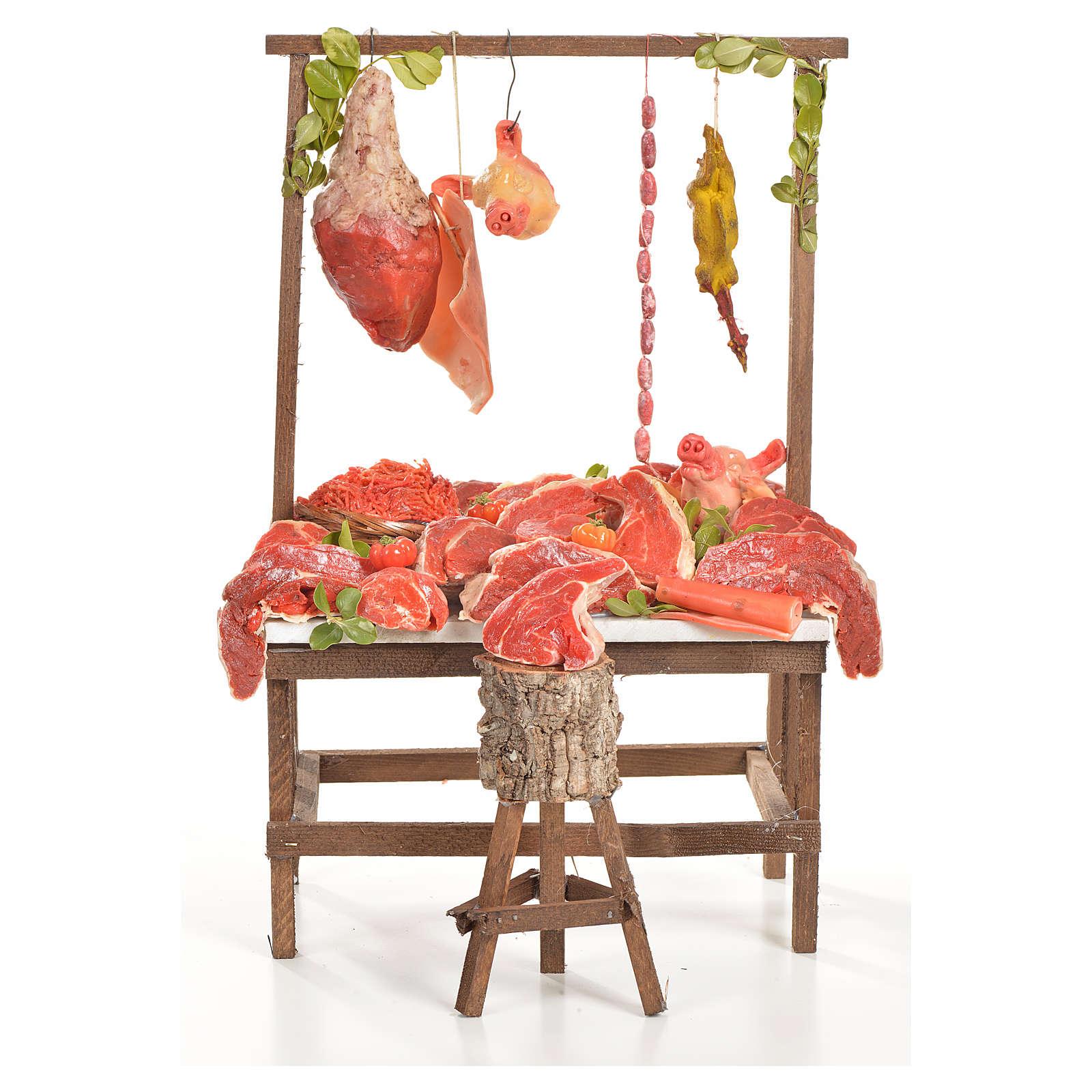 Nativity accessory, butcher's stall 20x27x44cm 4