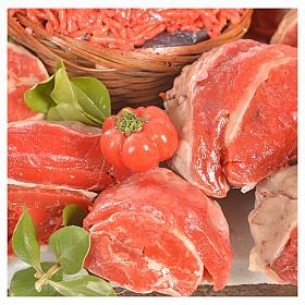 Nativity accessory, butcher's stall 20x27x44cm s6