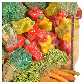 Nativity accessory, greengrocer's stall 20x27x44cm s5
