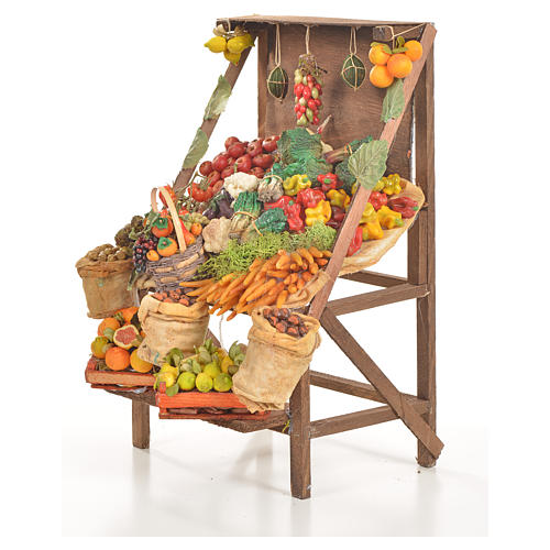 Nativity accessory, greengrocer's stall 20x27x44cm 2