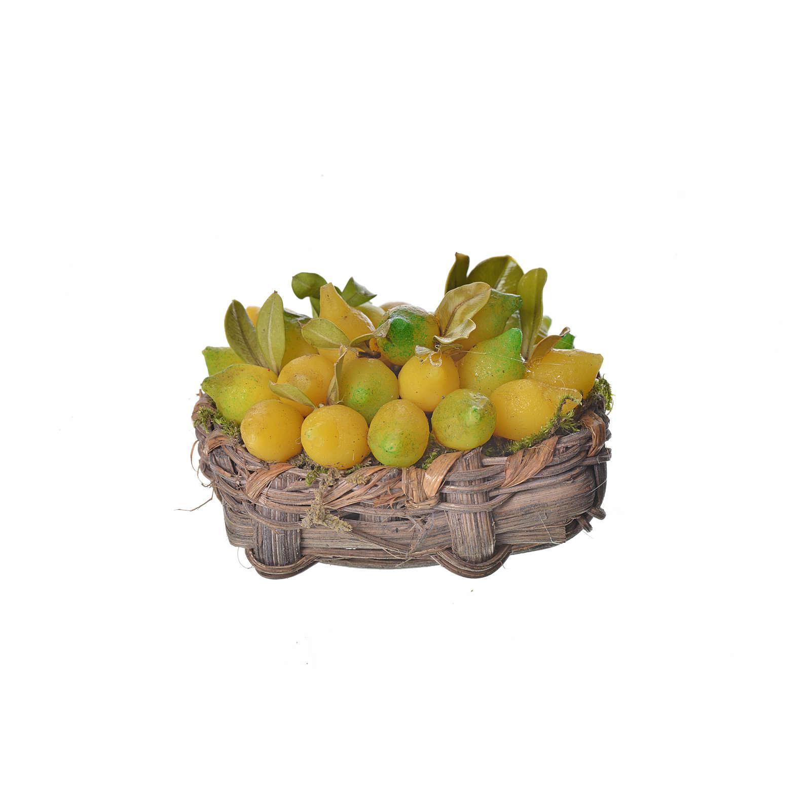 Cesto limoni in cera 4,5x5,5x6 4