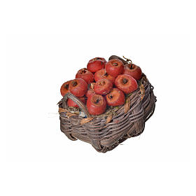Panier pommes en cire pour crèche 4,5x5,5x6 s2