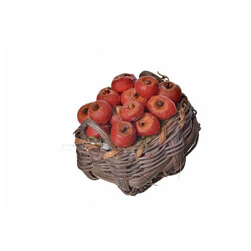 Panier pommes en cire pour crèche 4,5x5,5x6 2