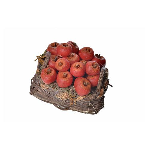 Panier pommes en cire pour crèche 4,5x5,5x6 3