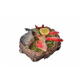 Panier poissons en cire pour crèche 4,5x5,5x6 s2