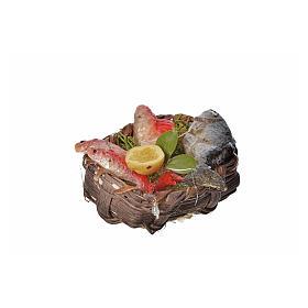 Panier poissons en cire pour crèche 4,5x5,5x6 s3