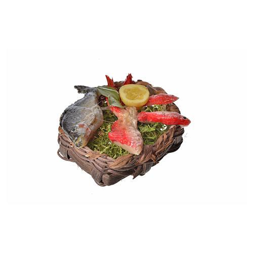 Panier poissons en cire pour crèche 4,5x5,5x6 2