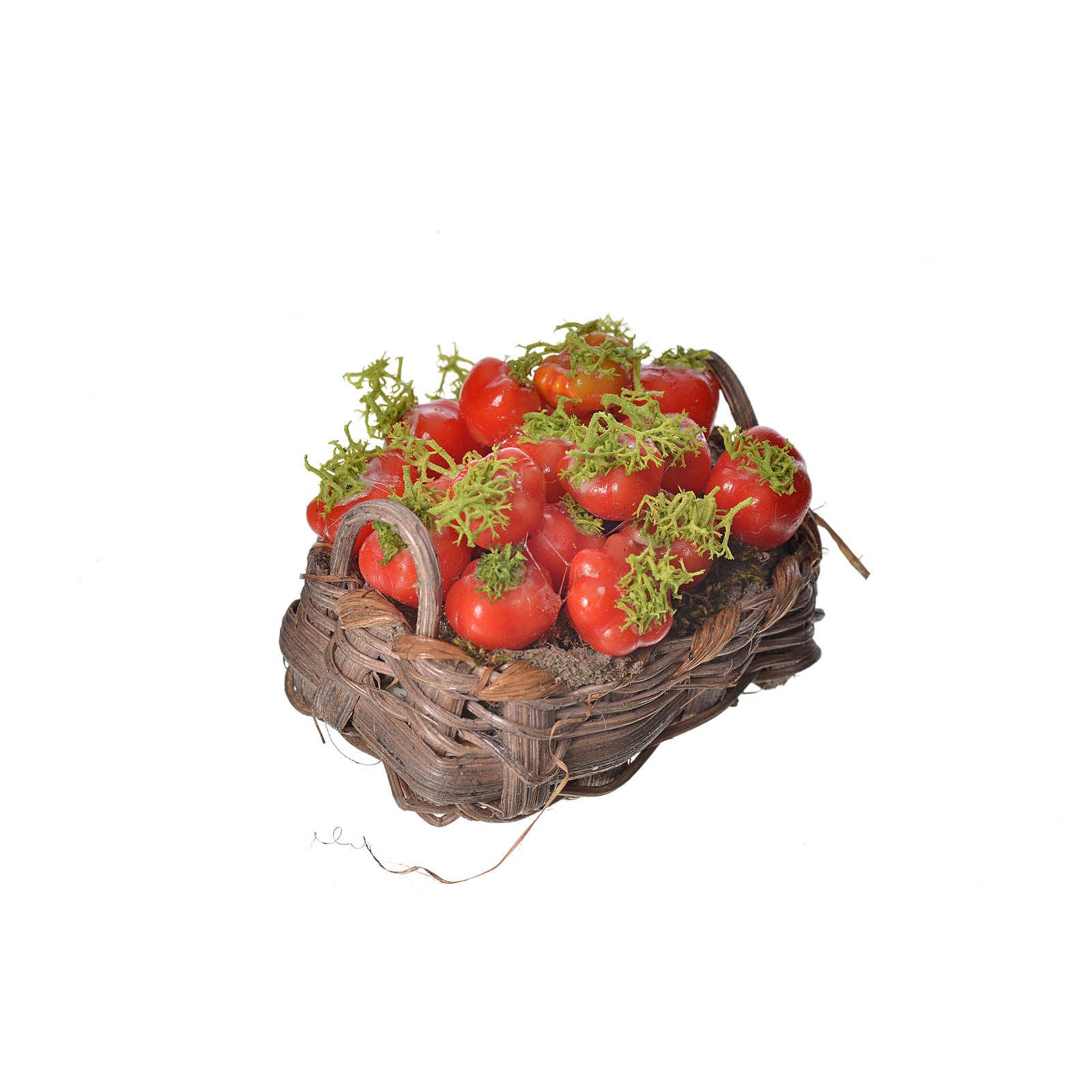 Cesto pomodori in cera 4,5x5,5x6 4