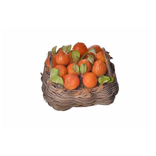 Nativity accessory, orange basket in wax, 4.5x5.5x6cm 1