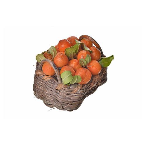 Nativity accessory, orange basket in wax, 4.5x5.5x6cm 2