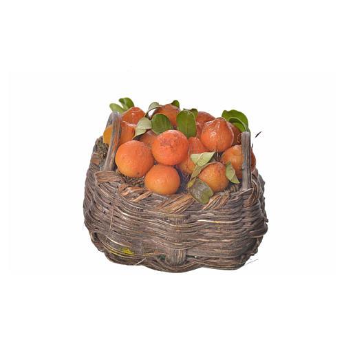 Nativity accessory, orange basket in wax, 4.5x5.5x6cm 3