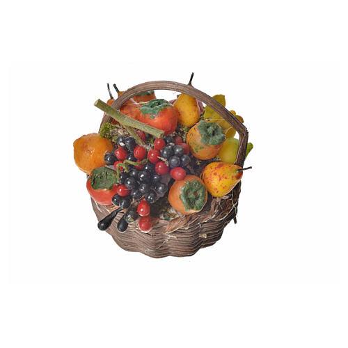 Nativity accessory, fruit basket in wax, 4.5x5.5x6cm 1