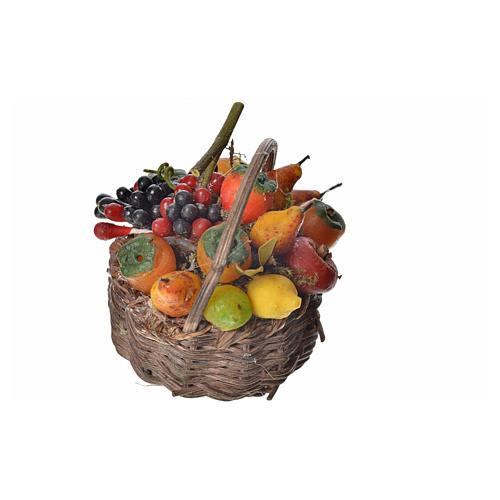 Nativity accessory, fruit basket in wax, 4.5x5.5x6cm 2