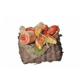 Nativity accessory, cold meat basket in wax, 10x7x8cm s3