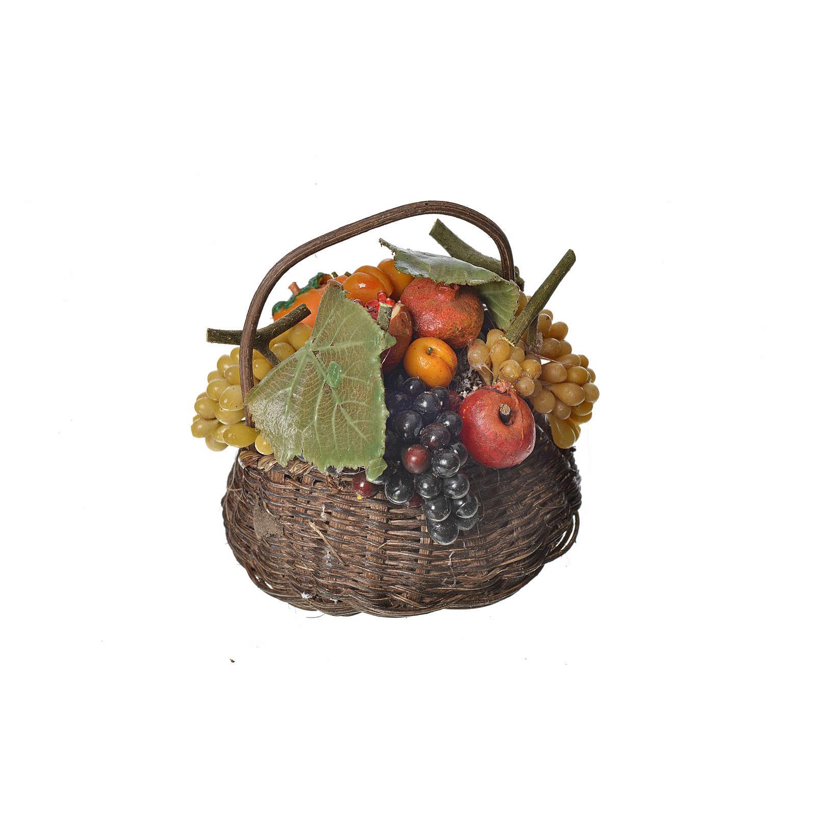 Cesto frutta in cera 10x7x8 cm 4