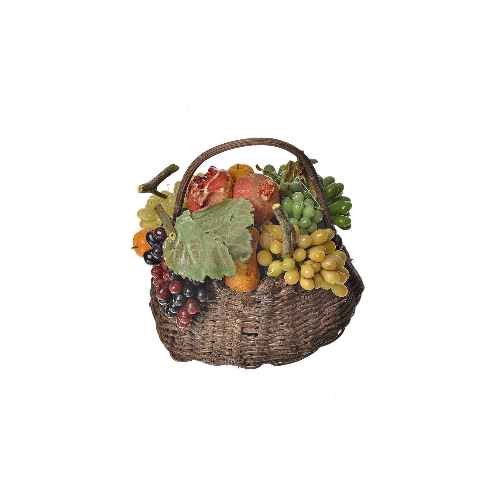 Cesto frutta cachi in cera 10x7x8 cm 4