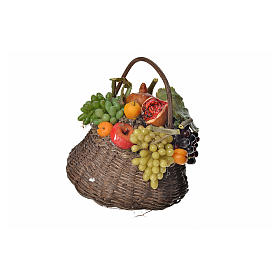 Cesto frutta cachi in cera 10x7x8 cm s1