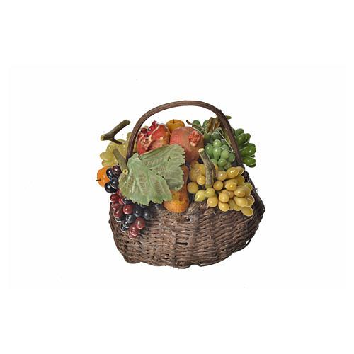 Cesto frutta cachi in cera 10x7x8 cm 2