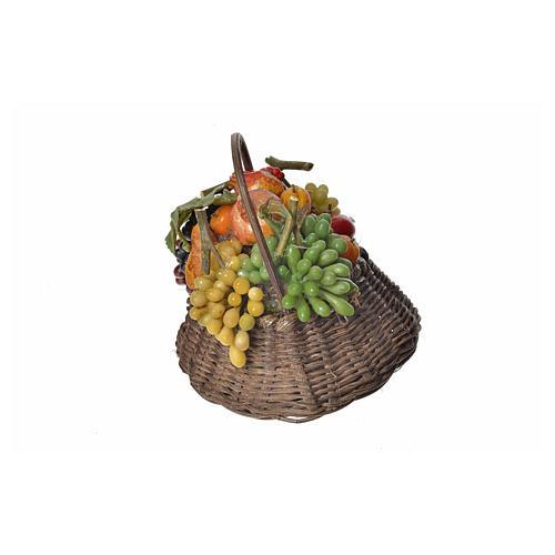 Cesto frutta cachi in cera 10x7x8 cm 3