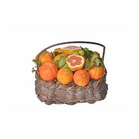 Cesto arance in cera 10x7x8 cm s1