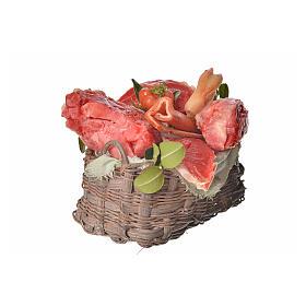 Nativity accessory, meat basket in wax, 10x7x8cm s2