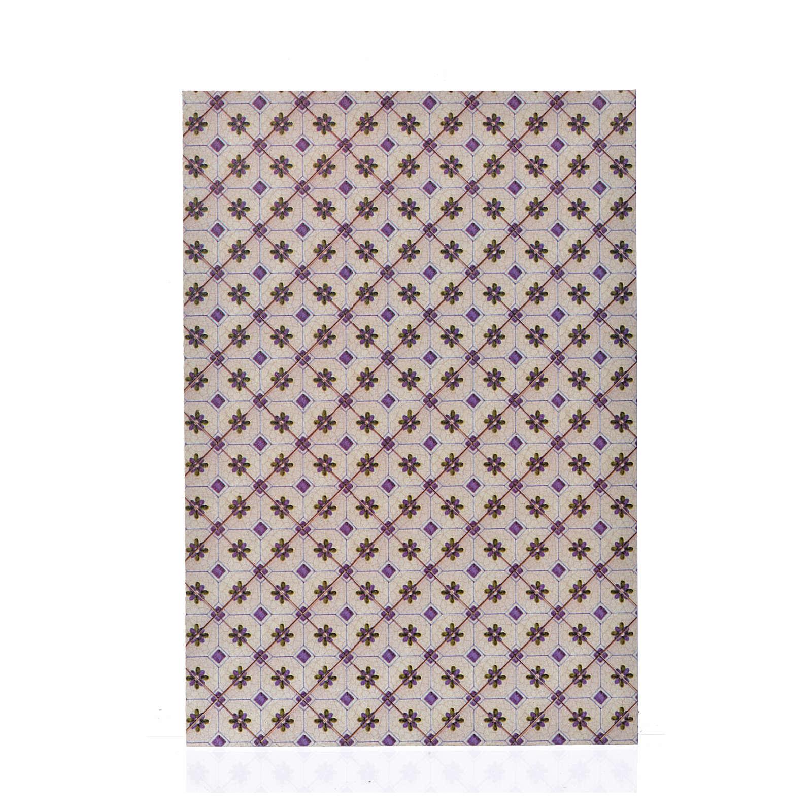 Cartoncino sottile pavimento rombi 24X16,5 cm 4