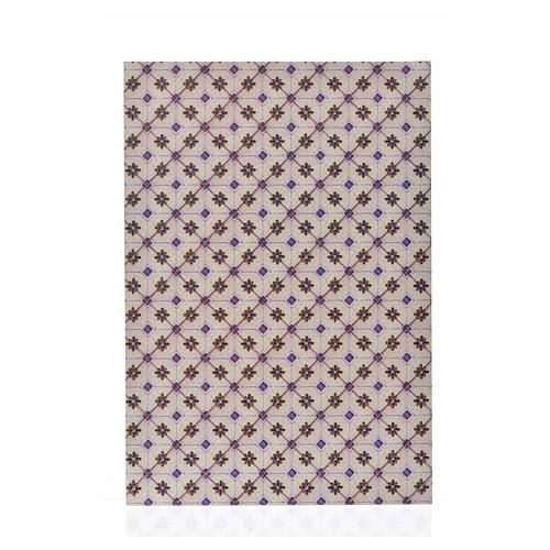 Cartoncino sottile pavimento rombi 24X16,5 cm 1