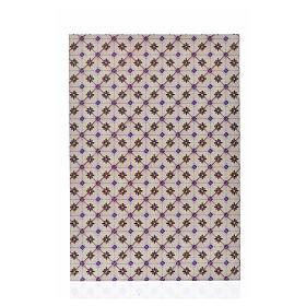 Acessórios de Casa para Presépio: Cartão fino chão losangos 24x16,5 cm