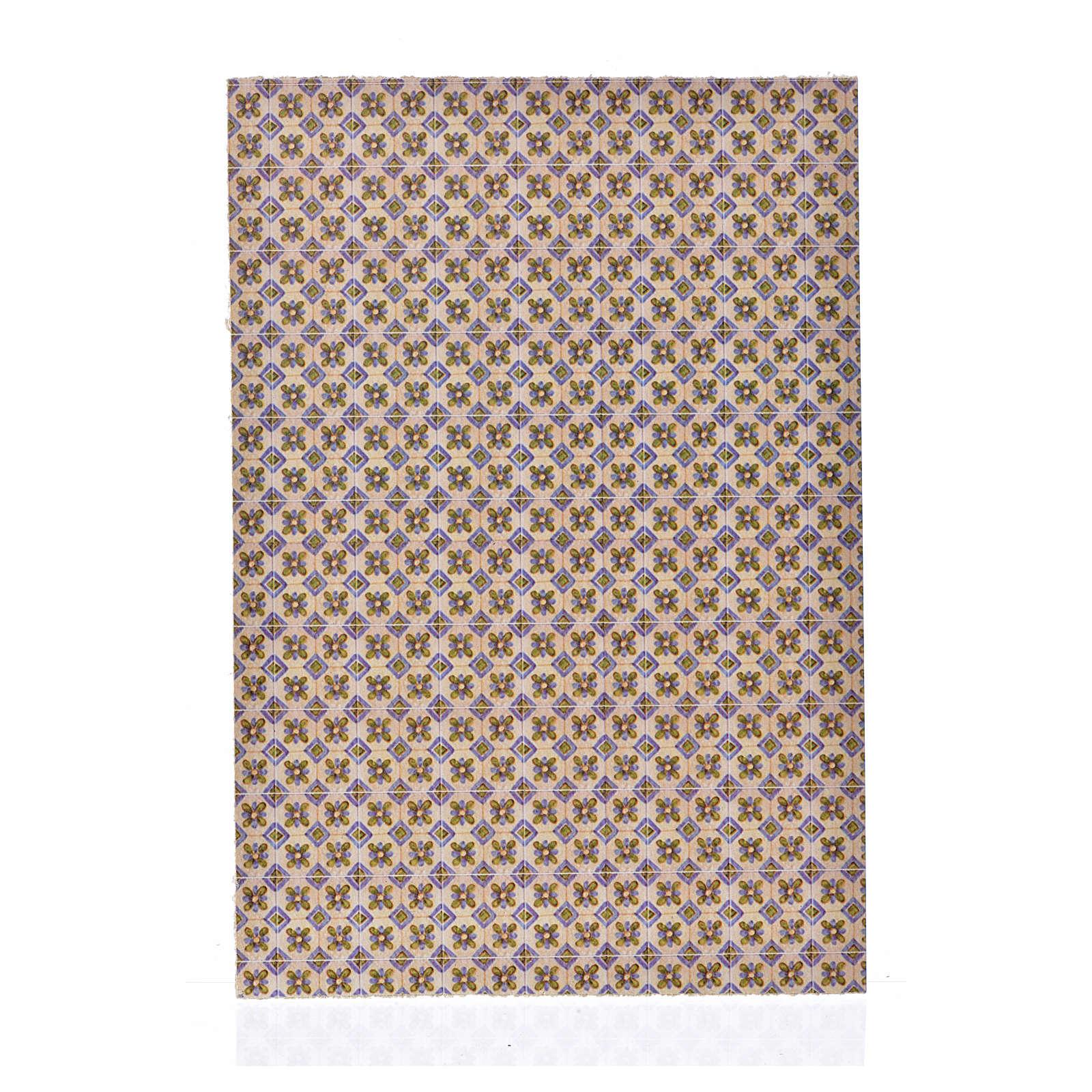 Cartoncino sottile pavimento fiori 24X16,5 cm 4
