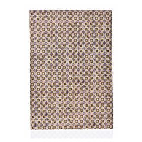 Acessórios de Casa para Presépio: Cartão fino pavimentação flores 24x16,5 cm