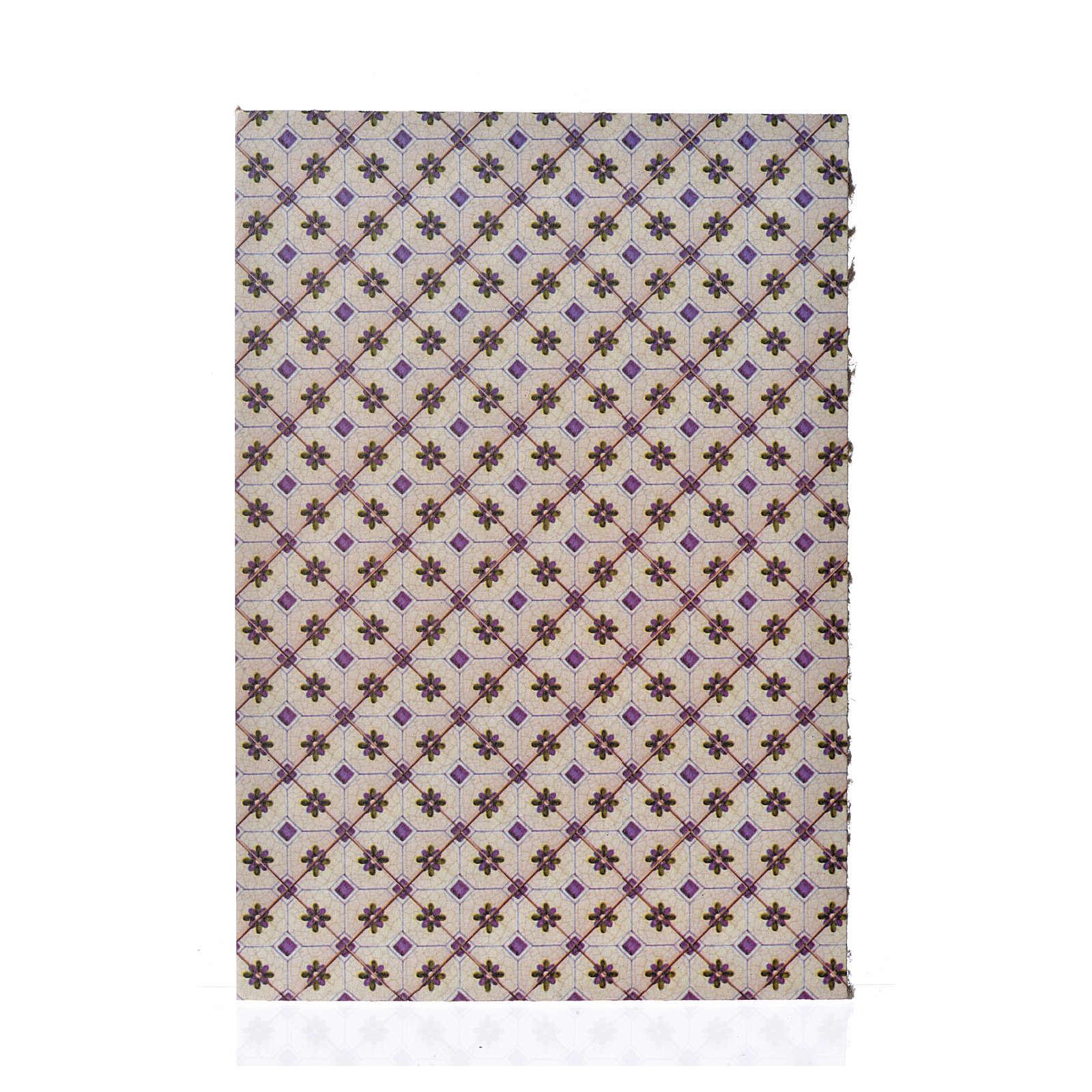 Carton pour revêtement sol losanges 24x16,5 cm, épais 4