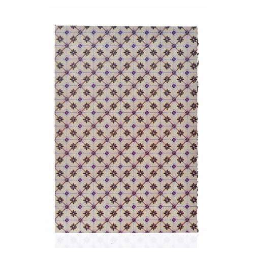 Carton pour revêtement sol losanges 24x16,5 cm, épais 1