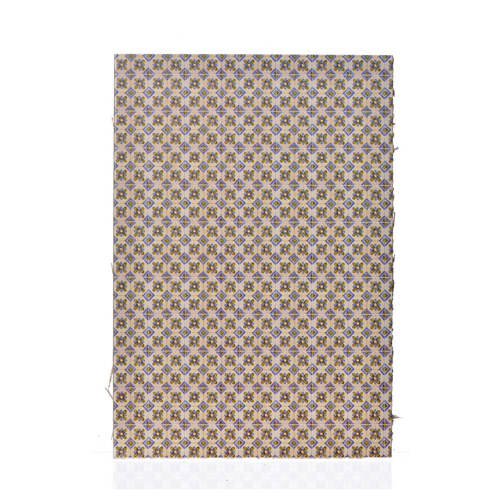 Papier podłoga kwiaty 24x16.5 cm 4