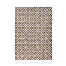 Acessórios de Casa para Presépio: Cartão duplo chão flores 24x16,5 cm